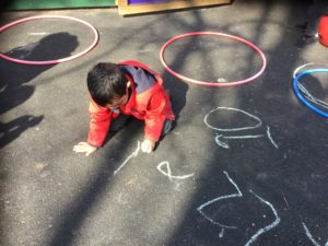 Outdoor Mark Making Early Years