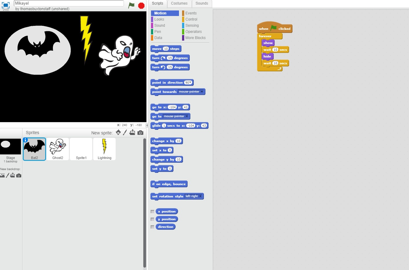 Year 3 Computing – Scratch Projects | Year 3